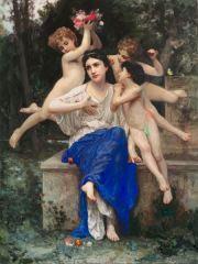 """""""Europa und die Meise""""  after Bouguereau  160 x 120 cm oil on canvas 2020"""